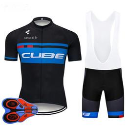 Bicicletta bicchierini cubo online-2019 Pro Cube Team Cycling Jersey Short 9D set MTB Bike Clothing Ropa Ciclismo Bike Wear Abbigliamento Uomo Maillot Culotte