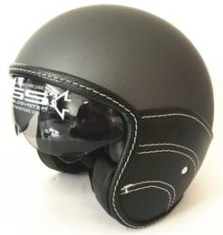 2019 kernhelm Core Vintage Open Face Helm (Schwarzes Leder, X-Large) halber Lederhelm günstig kernhelm
