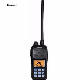 Wholesale handheld vhf ham radio - Recent RS-36M IPX7 VHF Handheld Marine Radio LCD Display Float Dual Tri-watch Auto Scan Ham Interphone 156~161.45Mhz Transceiver