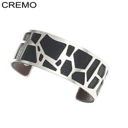 Giraffen armband online-Cremo Giraffe Liebe Armbänder Armreifen Für Frauen Edelstahl Bijoux Femme Manchette Reversible Öffnungsarm Armreif Pulseiras