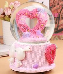 2019 regalos románticos bola de cristal Bola de cristal rotativa creativa caja de música caja de música niñas regalo de cumpleaños novia bestie regalos románticos rebajas regalos románticos bola de cristal