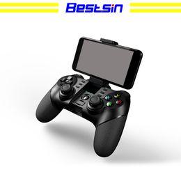 iphone sin hilos del androide del regulador del juego del bluetooth Rebajas Bestsin Wireless Bluetooth Gamepad PG-9076 Controlador de juegos Consola de juegos Joystick con 2.4G Dongle para PS3 IOS Android Celular iPhone PC TV