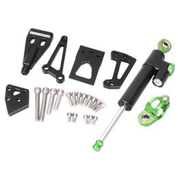 Wholesale Er 6n - ALLGT Steering Damper Stabilizer Bracket Mounting Kit Satety Control for Kawasaki ER6N 2009 2010 2011