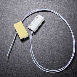 Wholesale security contact - 2017 New Arrival White Recessed Magnetic Window Door Contacts Alarm Security Reed Switch Reed Adhesive Drop Shipping