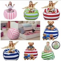 Wholesale Kids Boxing Bag - Kids Stuffed Animal Storage Bean Bag 16inch Cotton Canvas Organizer Box Organization Sack Chair Portable Clothes Storage 5pcs OOA4638