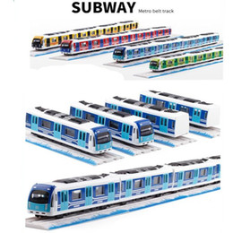 track ship Coupons - 1:87 Magnetic pull back alloy subway,Metro track train,Alloy model toys,Wholesale, hot, free shipping