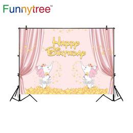 Toptan backdrop fotoğraf stüdyosu karikatür fil doğum günü partisi için çocuk yıldız perde arka plan photobooth photocall nereden