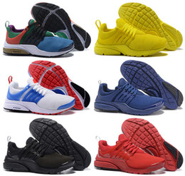 Wholesale Breathe Light - New Presto BR QS Womens Mens Running Shoes Outdoor Trainer Zapatos Breathe Greedy Oreo Yellow Red Walking Sneakers