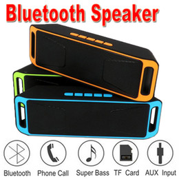 2019 commercio all'ingrosso portatile staging SC208 Mini altoparlanti Bluetooth portatili 2018 Hot Wireless Loudly Music Player Big Power Supporto subwoofer TF USB Radio FM EXYX-2 50 Pack