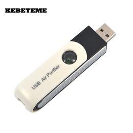 Wholesale Car Ionic Purifier - KEBETEME Mini USB ionic Air Purifier Ionizer Air Cleaner USB Adapter Cleaner for Computer Car PC