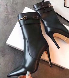898ad5be3e7f Discount lace up buckle strap boots - AAAAA 6383240 10.5cm Heel Sylvie  leather ankle boot