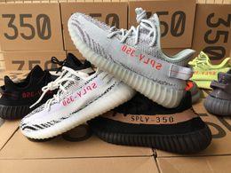 Wholesale Fashion Flats - 2018 v2 350 New Pirate black 350 v2 Beluga 2.0 with Box Receipt 350 Men women Fashion Sneaker Shoes size 36-48