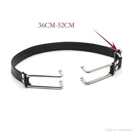 Wholesale Hook Gag - PU Leather Strap Asylum Hook Claw Mouth Spreader Sex Bondage Open Mouth Metal Hook Gags Fetish Restraint