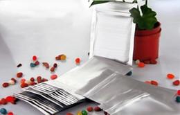 2020 bolsas de papel de aluminio al por mayor Bolso del papel de aluminio del sello Ziplock de la parte inferior plana, bolso plástico del acondicionamiento de los alimentos del regalo al por mayor, paquete del papel de aluminio de la cerradura de la cremallera bolsas de papel de aluminio al por mayor baratos
