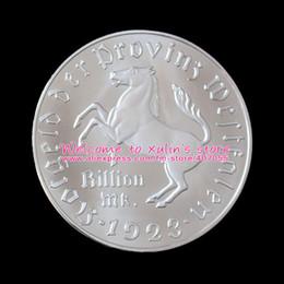 Wholesale Germany Coins - XDD0102I 5 Pcs Germany WESTPHALIA Notgeld 1 Billion Mark 1923 Minister vom Stein der Provinz Westfalen RARE Silver Coins