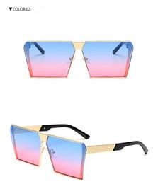 Wholesale Unique Orange - Brand Designer Women Square Sunglasses Mens Unique Oversize Shield UV400 Gradient Vintage Eyeglasses Frames For Women 0019