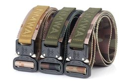 Wholesale Brand New Equipment - 2018 Brand NEW Equipment Knock Off Army Belt Men's Heavy Duty US Soldier Combat Tactical Belts Sturdy 100% Nylon Waistband