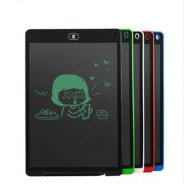 12 comprimidos Rebajas 12 Pulgadas LCD Tableta de Escritura Tableta de Dibujo Digital Cojines de Escritura Tableta Tablero Electrónico ultra-delgado Tablero Regalo de los niños