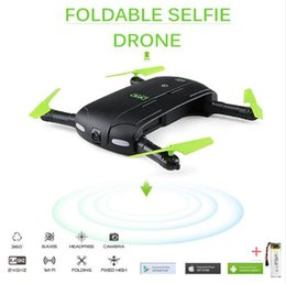 Wholesale Hd Fpv - DHD D5 Selfie Drone With Wifi FPV HD Camera Foldable Pocket RC Drones Phone Control Helicopter VS JJRC H37 Mini Quadcopter Toys