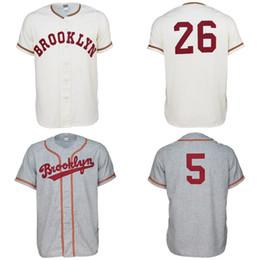 logotipos gratuitos da faculdade Desconto Brooklyn College 1956 Home Estrada Jersey 100% Bordado Costurado Logos Jérsei De Beisebol Do Vintage Personalizado Qualquer Nome Qualquer Número Frete Grátis