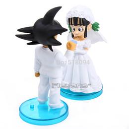 2019 bola de dragão chichi Eco-Friendly Anime Dragon Ball Goku Chichi Casamento PVC Action Figure Toys 8 cm Conjunto De 2 Dbfg040 bola de dragão chichi barato