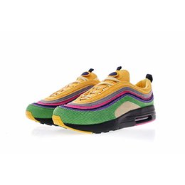 Wholesale custom gyms - 97 1 Hybrid Sean Wotherspoon Eclipse Mache Custom New Mens Designer Running Shoes for Men Casual Trainers Women Sports Sneakers