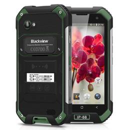 Micro cámara de video a prueba de agua online-IP68 Impermeable Blackview BV6000s 4G LTE 2GB 16GB Quad Core MTK6737T Android 7.0 NFC GPS 8MP HD Cámara 4500mAh 5V / 2A Smartphone de carga rápida