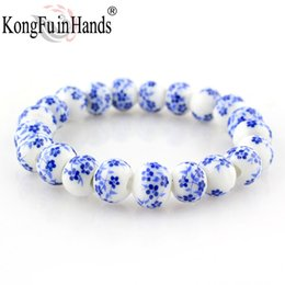 Faça porcelana on-line-Azul e Branco Porcelana Beads Pulseira OL Estilo de Cerâmica acessórios made in china frete grátis Presentes Criativos preço de Fábrica