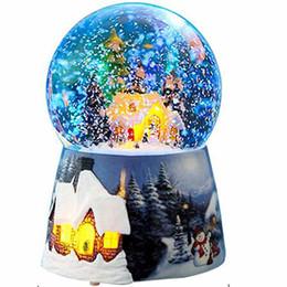 Kristall-spieldosen online-Heißer Verkaufs-Uhrwerk-Art Ballerina-Spieluhr-freies Verschiffen Schnee-Kristallkugel-Weihnachtsspieluhr-Kristallball-Spieluhr-Schnee-Haus, das sich dreht