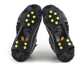 New10 Crampons en acier Crampons à glace Poignées de neige sur la chaussure Couvre-bottes de traction Crampons en caoutchouc Anti-dérapant Ski Neige Randonnée Escalade Gripper ? partir de fabricateur