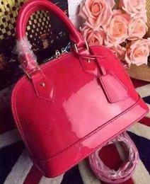 Wholesale Handbags Bb - ALMA BB shell bag women pu Leather handbags flower Embossed shoulder bags with lock designer handbags high quality crossbody bag