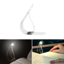 Discount small white led battery - Ultra Thin Flexible LED Book Light Creative Bookmark Innovation Mini Small Table Lamp Novelty Night Light Button Battery Light