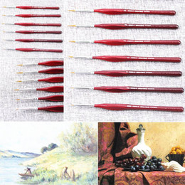 Wholesale Fine Art Wholesale - Creative Miniature Paint Brush Professional Sable-Hair Detail for Fine Detailing Art Painting Drawing Brushes-Free drop shipping