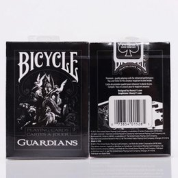 Wholesale Bicycle Play Cards - Magician Bicycle Guardians Playing Cards By Theory11 Black Magic Cardistry Deck Guardian Gift Collection Poker OOA4513