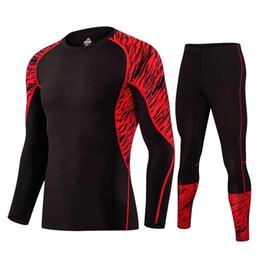 Wholesale Uomo Shirt Xl - LIDONG New Compression Tracksuit Fitness Tight Running Set T-shirt Legging Men's Sportswear Black Gym Sport Suit tuta uomo sport