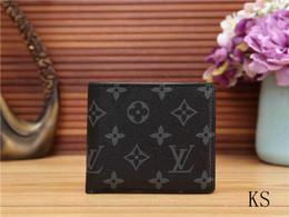 Canada Mode hommes de luxe rétro court portefeuille multi-cartes femmes shopping sac à main sac de rangement de portefeuille personnalisé sac à carreaux 7 couleurs cheap card personal Offre