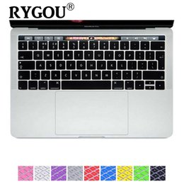Wholesale laptop keyboard protective - EU UK English Ultra Thin Durable Keyboard Cover Skin Protective Sticker for New MacBook Pro 13 15 inch (2016 Release, TouchBar)