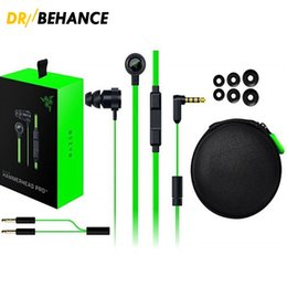 Wholesale Razer Hammerhead - Razer Hammerhead Pro V2 Headphone in-ear Earphones nice sound With Microphone headsets Noise Isolation Stereo Bass 3.5mm Retail Box