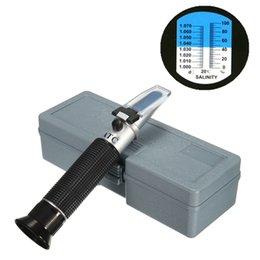 Refractómetro de salinidad de prueba de alta calidad Lector de Salinidad de agua salada Rango del medidor 0-10% Nueva llegada desde fabricantes