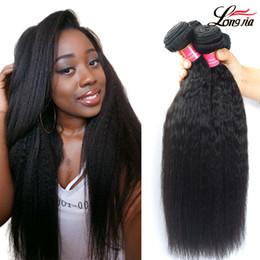 8A Brésilien Kinky Droite de Cheveux Humains Pas Cher Péruvienne Malaisienne Indienne Yaki Droite Extensions de Cheveux Humains Brésilien Vierge Cheveux 3/4 faisceaux ? partir de fabricateur