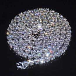 Cz zirconia cúbica on-line-Top dos homens de Tênis Cadeia Hip hop Jóias 5mm Cubic Zircon Sliver Material de Cobre CZ Colar de Ligação de 20 polegadas de 20 polegadas 24 polegadas 30 polegada