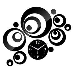 Wholesale Large Decorative Mirrors - 2017 New Wall Clock Horloge Modern Design Reloj De Pared Large Decorative Digital Watch Living Room 3d Diy Acrylic Mirror