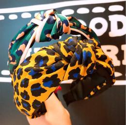 Wholesale 2018 version coréenne originale de la coutume petit léopard motif bordure bordé noué bandeau sauvage tête épingle bijoux S0976