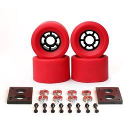 Wholesale 6mm bearing - NEWEST Skateboard Wheels 87*52mm Long Board City Run 83*52mm Wheels 6mm Riserpad 35mm Bolts ABEC-9 Bearing Big Longboard