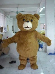 Wholesale Ted Christmas Bear - 2018 Factory sale hot Mascot Adult size Cartoon long plush ted brown bear Mascot Costume mascot halloween costume christmas Crazy Sa