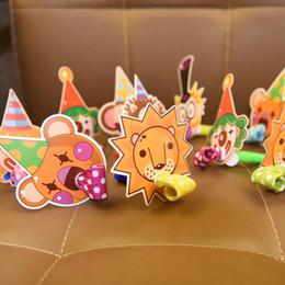 Мультфильм принцесса принц онлайн-Creative Cartoon Animal Blowouts Noise Makers Whistle Kids Prince Princess Birthday Gift Favors Supplies Christmas