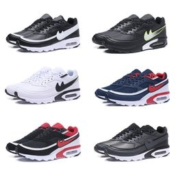Wholesale Ladies Genuine Leather Flat Shoes - 2018 New Fashion Maxes 91 Classic BW ULTRA MEN'S Running Sport Shoes Lady BW Sneaker Size 40-46