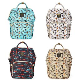 Wholesale mother diaper handbags - New Upgraded Diaper Backpacks Cartoon Print Baby Mommy Changing Bag Mummy Backpacks Nappy Mother Maternity Backpacks Nappy Stackers Handbag