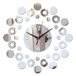 relojes de pared de acrílico Rebajas 2018 Nuevo Espejo 3d Acrílico Diseño Moderno Reloj de Baño Reloj de Pared DIY Relojes de Cuarzo Decoración de la Sala de estar de la Aguja G