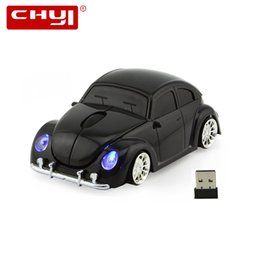 Wholesale hot beetles - Computer Mouse VW Beetle Sports Car Wireless Mouse Cool Optical 2.4GHz Gamer Gaming Hot Sale 1600 DPI Mice For Mac Laptop